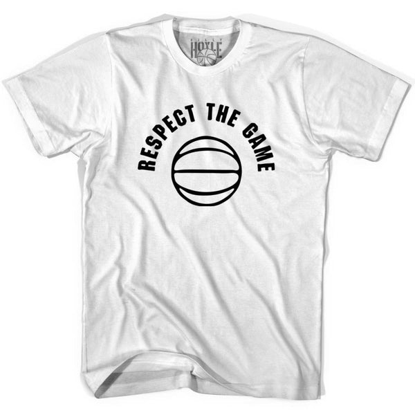 Respect The Game Basketball T-shirt T-shirt - White / Adult Small - Basketball T-shirt