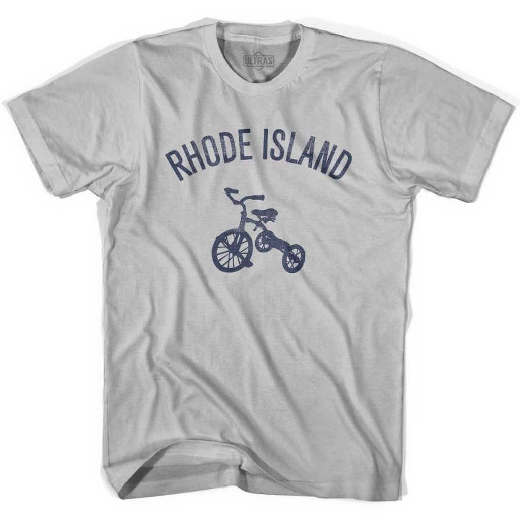 Rhode State Tricycle Adult Cotton T-shirt - Cool Grey / Adult Small - Tricycle State