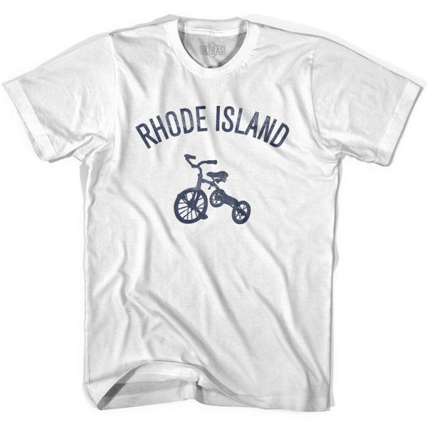Rhode State Tricycle Adult Cotton T-shirt - White / Adult Small - Tricycle State