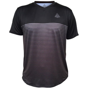 Rise GSM Tennis Shirt-Adult - Black-Dark Grey / Adult X-Small / No - Tennis Shirts