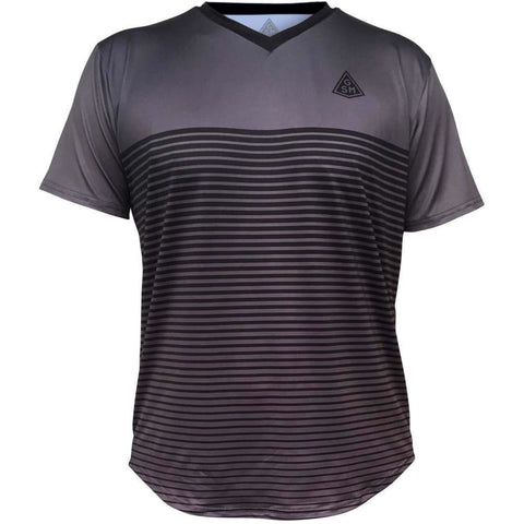 Rise GSM Tennis Shirt - Dark Grey-Black / Youth X-Small / No - Tennis Shirts