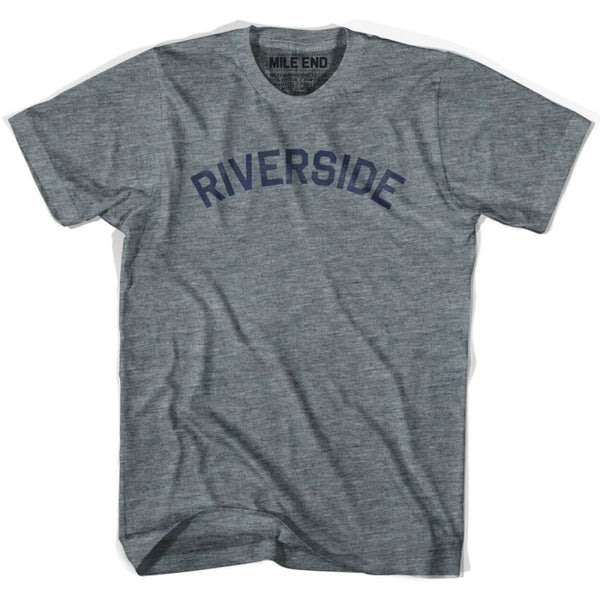 Riverside City Vintage T-shirt - Athletic Grey / Adult X-Small - Mile End City