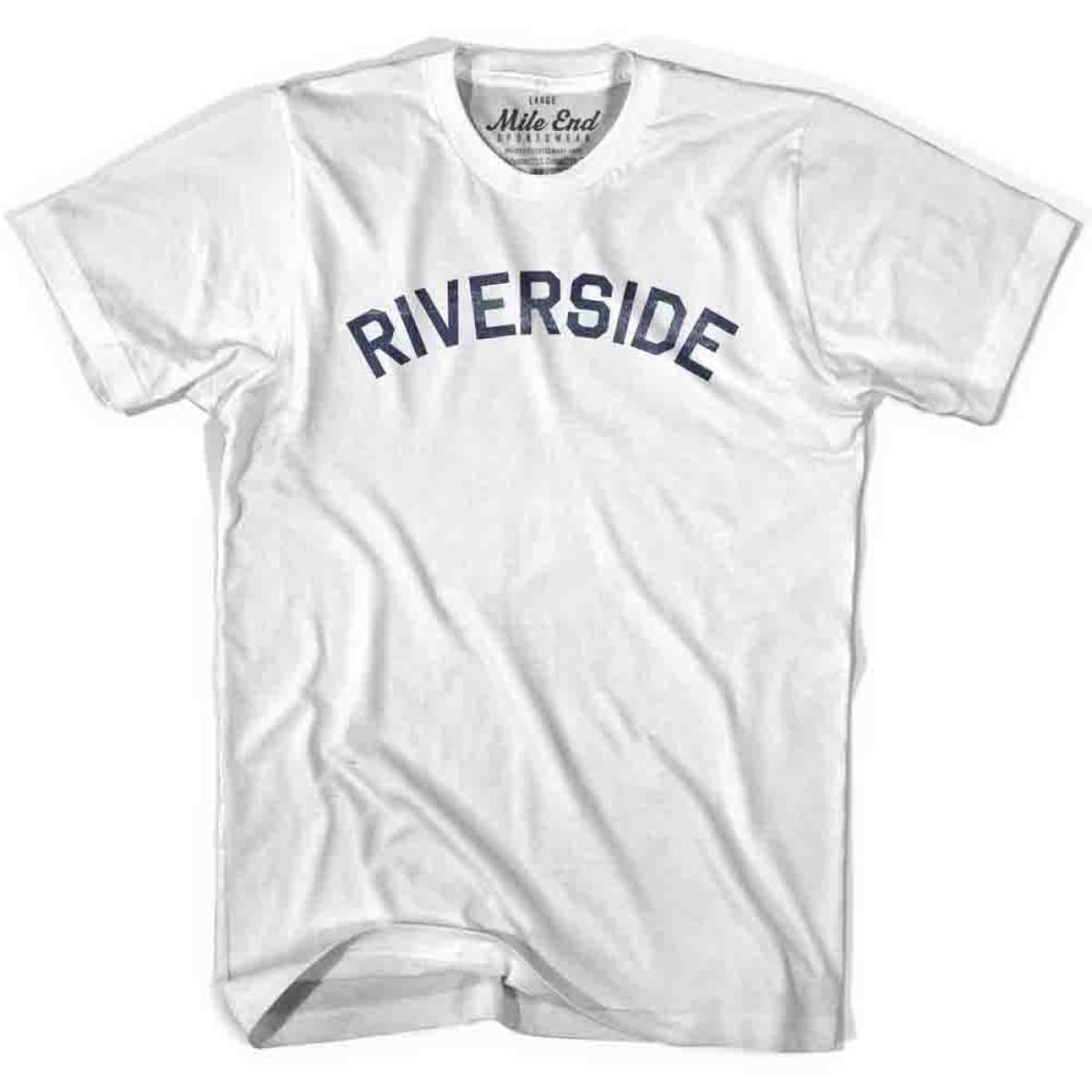 Riverside City Vintage T-shirt - White / Youth X-Small - Mile End City