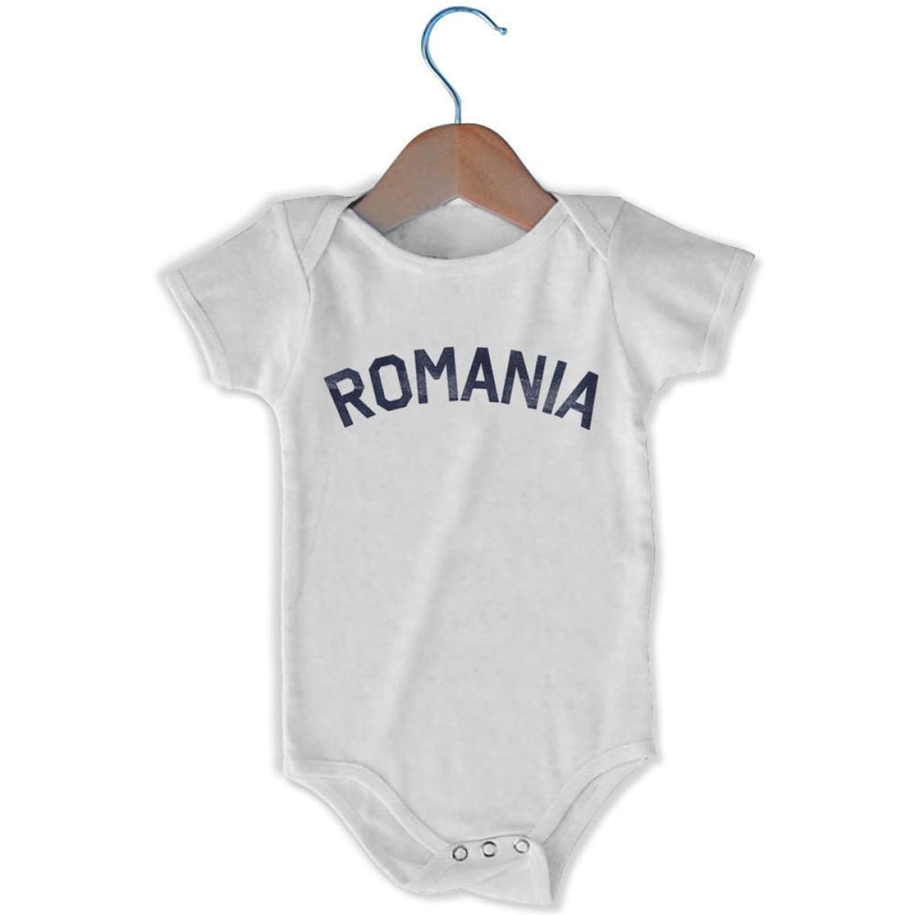 Romania City Infant Onesie - White / 6 - 9 Months - Mile End City
