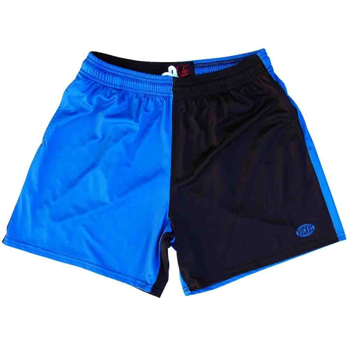 Royal and Black Rugby Shorts - Royal and Black / Adult Small - Rugby Cut Training Shorts