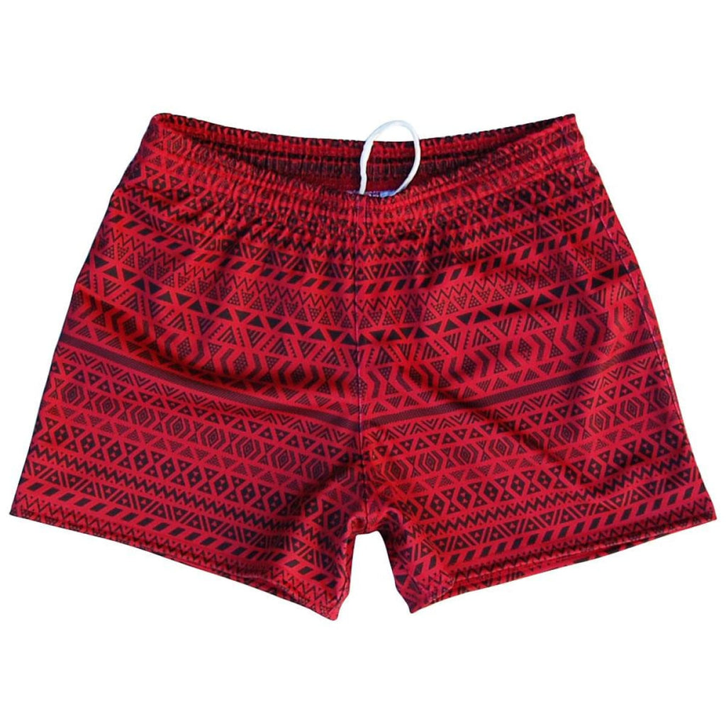 Ruckus Maori Rugby Union Shorts - Cardinal / Adult Small - Rugby Union Shorts