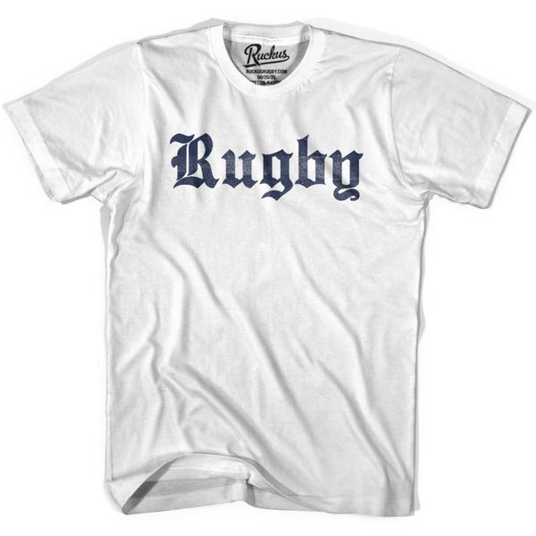 Rugby Script Vintage T-shirt - Cool Grey / Youth X-Small - Vintage T-shirt