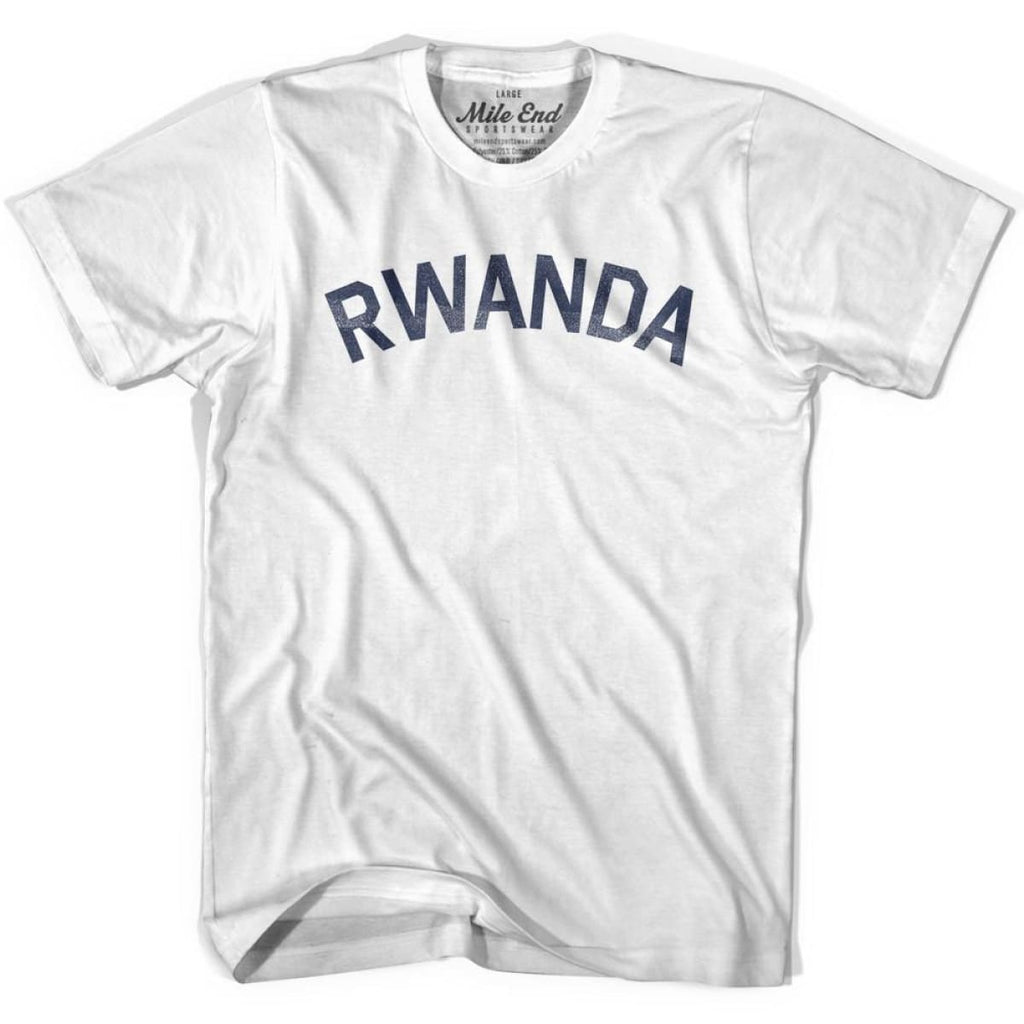 Rwanda City Vintage T-shirt - White / Youth X-Small - Mile End City