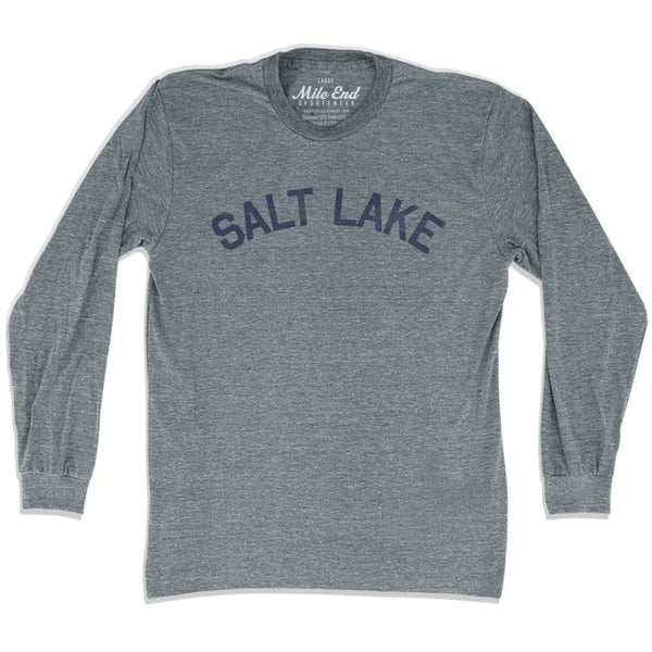 Salt Lake City Vintage Long Sleeve T-shirt - Athletic Grey / Adult X-Small - Mile End City