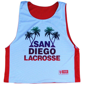 San Diego Lacrosse Reversible Pinnie - Orange and White / Youth X-Small / No - Graphic Lacrosse Pinnies