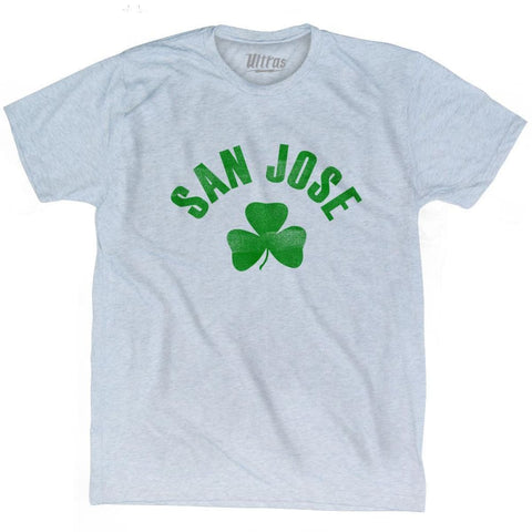 San Jose City Shamrock Tri-Blend T-shirt - Athletic White / Adult Small - Shamrock Collection