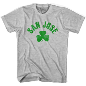 San Jose City Shamrock Youth Cotton T-shirt - Grey Heather / Youth X-Small - Shamrock Collection
