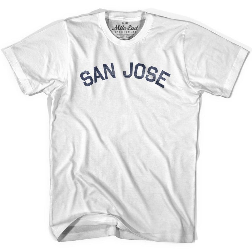 San Jose City Vintage T-shirt - White / Youth X-Small - Mile End City