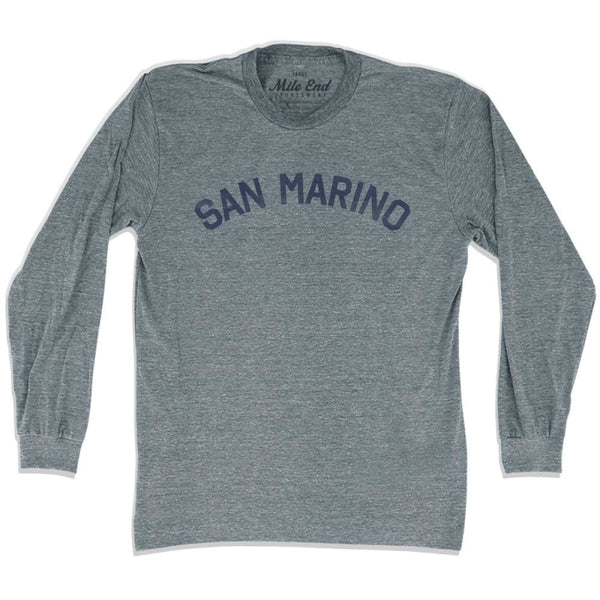 San Marino City Vintage Long Sleeve T-shirt - Athletic Grey / Adult X-Small - Mile End City