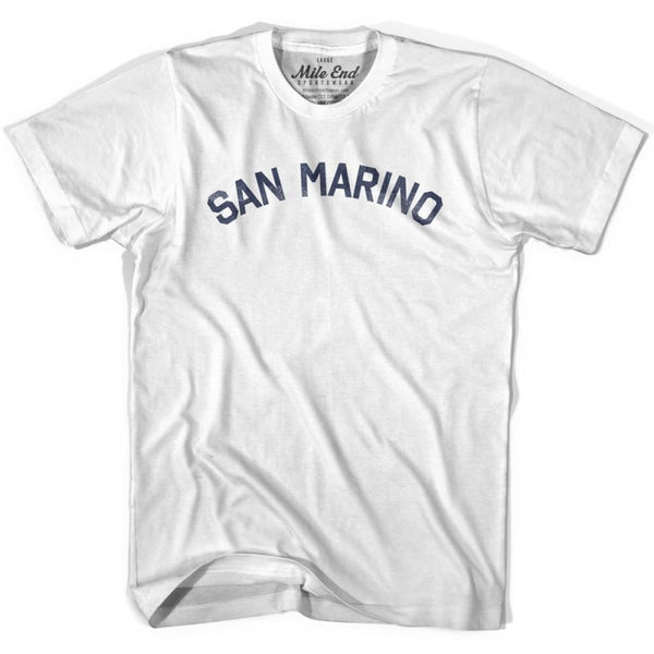 San Marino City Vintage T-shirt - White / Youth X-Small - Mile End City