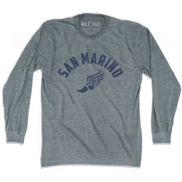 San Marino Track Long Sleeve T-shirt - Athletic Grey / Adult X-Small - Mile End Track