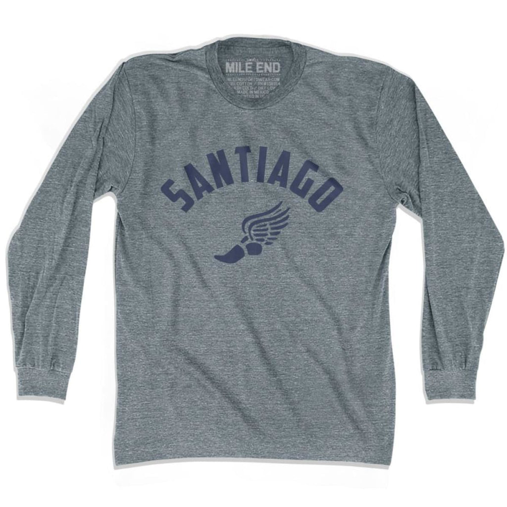 Santiago Track Long Sleeve T-shirt - Athletic Grey / Adult X-Small - Mile End Track