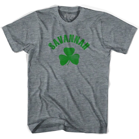 Savannah City Shamrock Tri-Blend T-shirt - Athletic Grey / Adult X-Small - Shamrock Collection