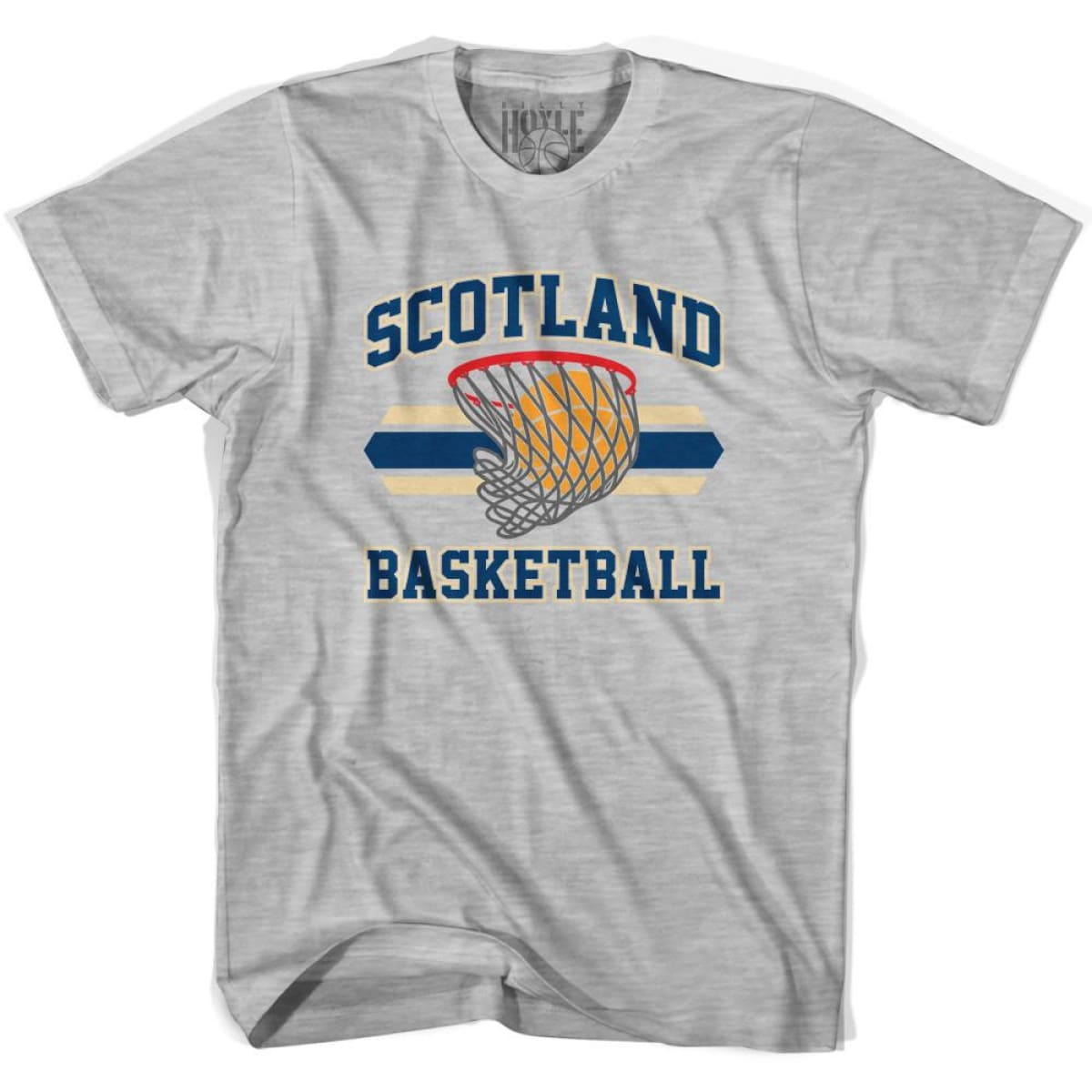 Scotland 90s Basketball T-shirts - Grey Heather / Youth X-Small - Basketball T-shirt
