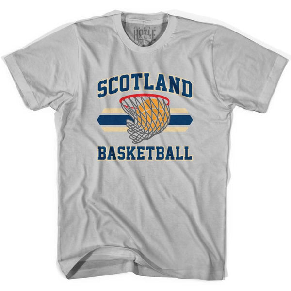 Scotland 90s Basketball T-shirts - Silver / Youth X-Small - Basketball T-shirt