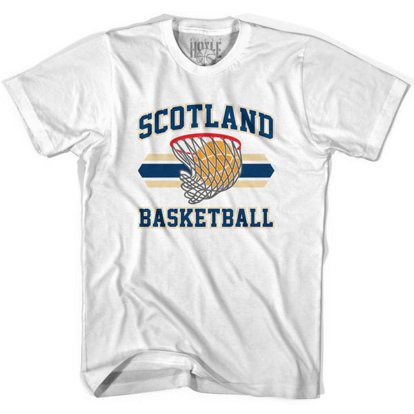 Scotland 90s Basketball T-shirts - White / Youth X-Small - Basketball T-shirt