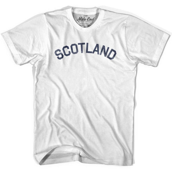 Scotland City Vintage T-shirt - White / Youth X-Small - Mile End City