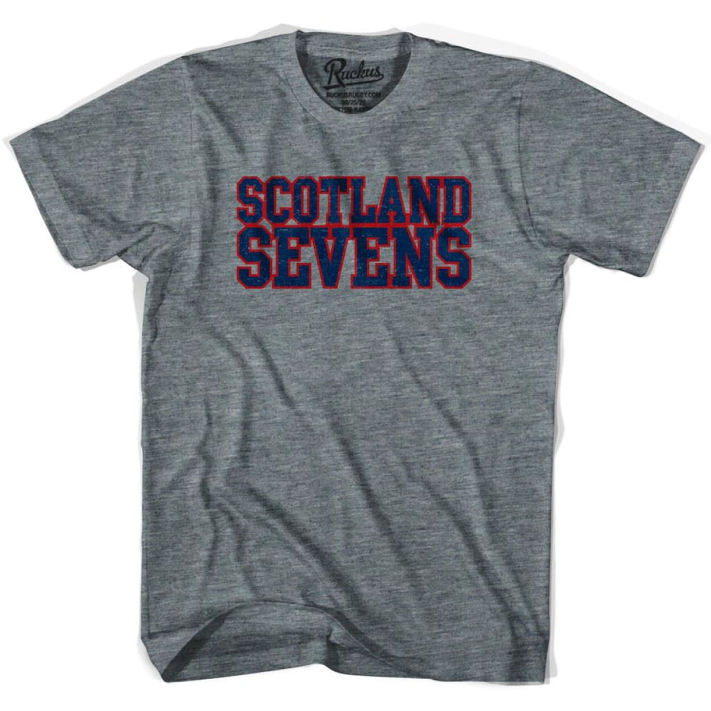Scotland Sevens Rugby T-shirt - Athletic Grey / Adult Small - Rugby T-shirt