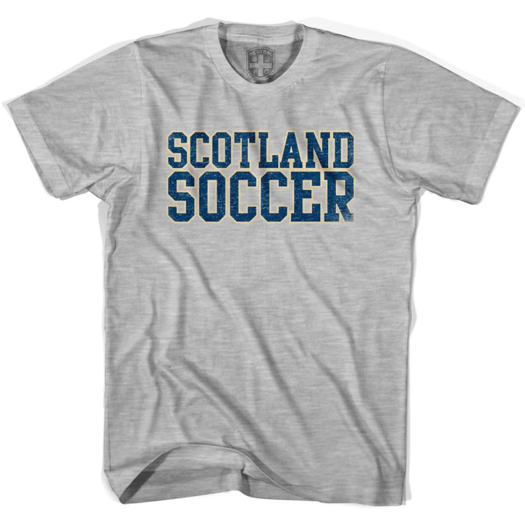 Scotland Soccer Nations World Cup T-shirt - Grey Heather / Youth X-Small - Ultras Soccer T-shirts