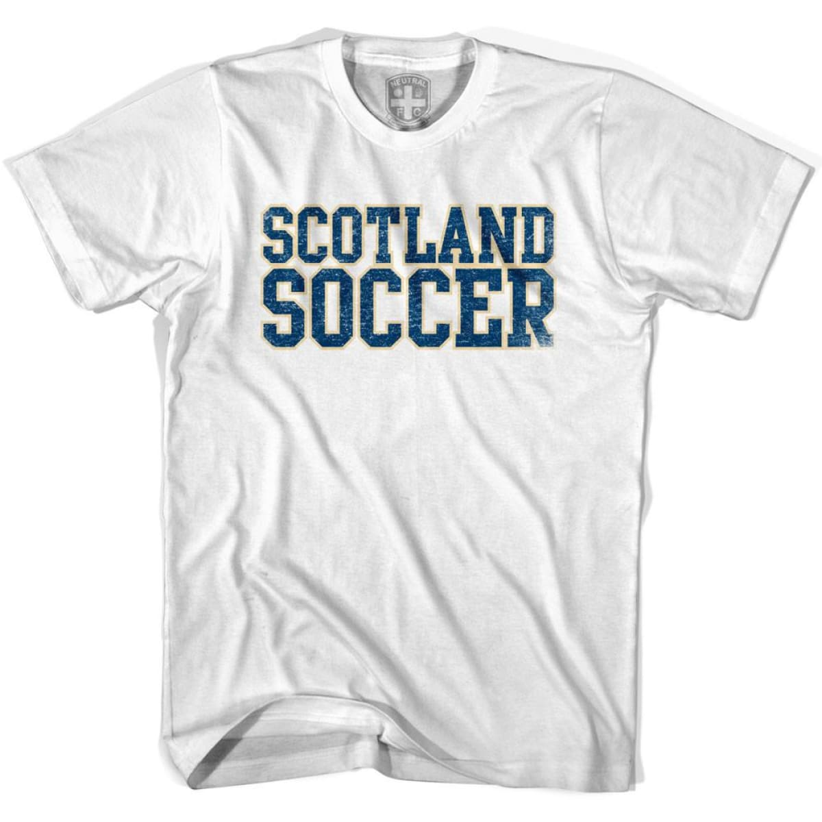 Scotland Soccer Nations World Cup T-shirt - White / Youth X-Small - Ultras Soccer T-shirts