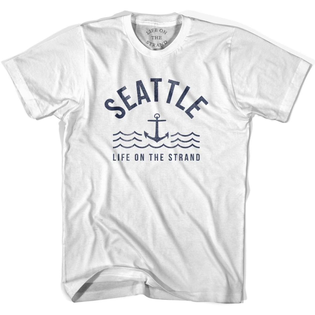 Seattle Anchor Life on the Strand T-shirt - White / Youth X-Small - Life on the Strand Anchor