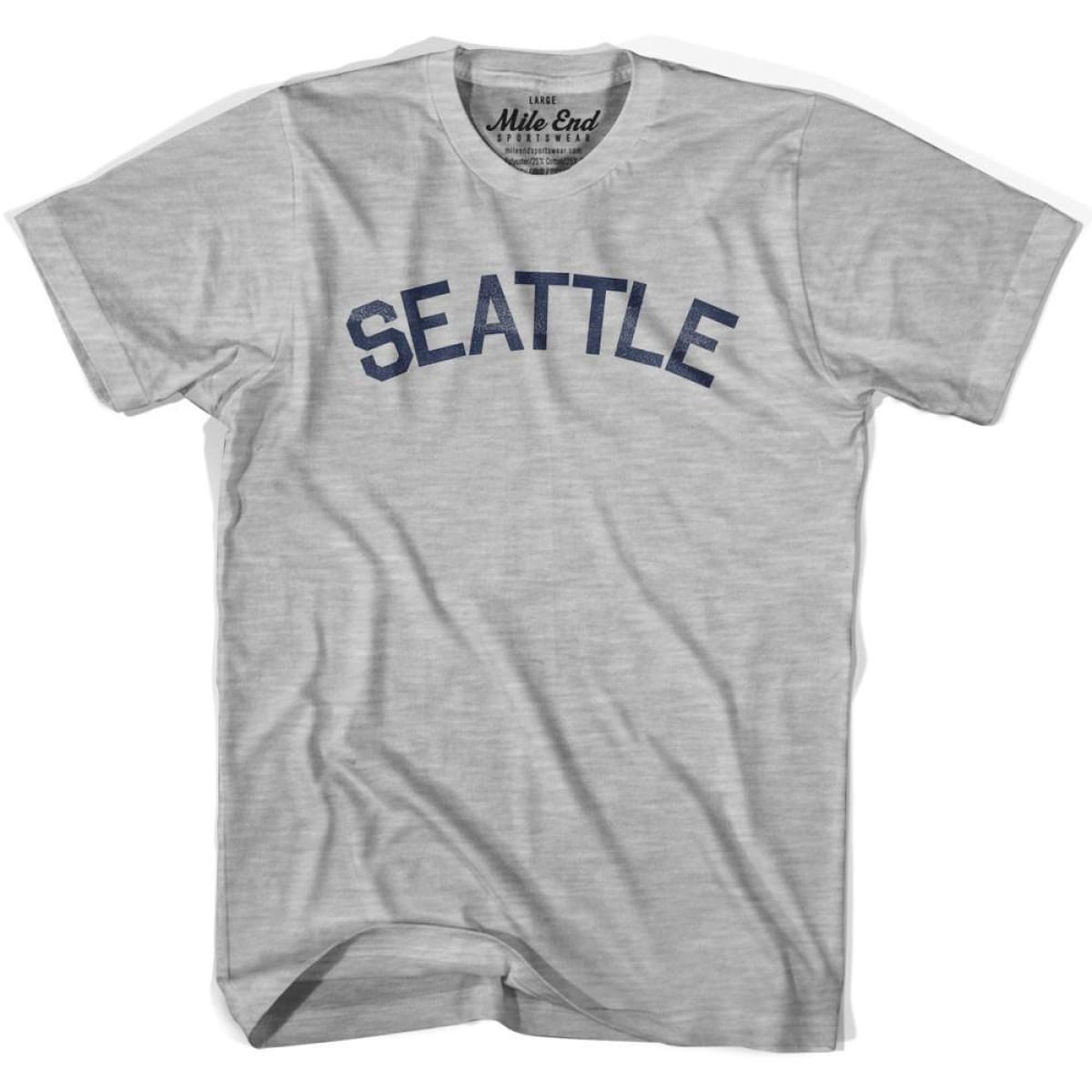 Seattle City Vintage T-shirt - Grey Heather / Youth X-Small - Mile End City