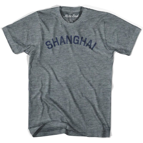 Shanghai City Vintage T-shirt - Athletic Grey / Adult X-Small - Mile End City