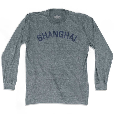 Shanghai Vintage City Adult Tri-Blend Long Sleeve T-shirt - Athletic Grey / Adult Small - Asian Vintage City