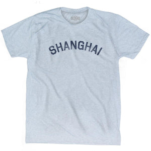 Shanghai Vintage City Adult Tri-Blend T-shirt - Athletic White / Adult Small - Asian Vintage City
