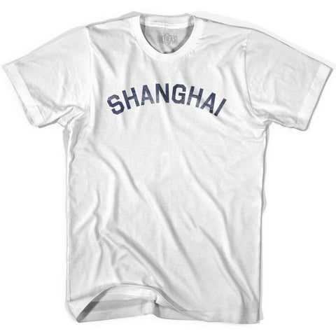 Shanghai Vintage City Womens Cotton T-shirt - White / Womens Small - Asian Vintage City