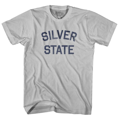 Nevada Silver State Nickname Adult Cotton T-shirt by Ultras