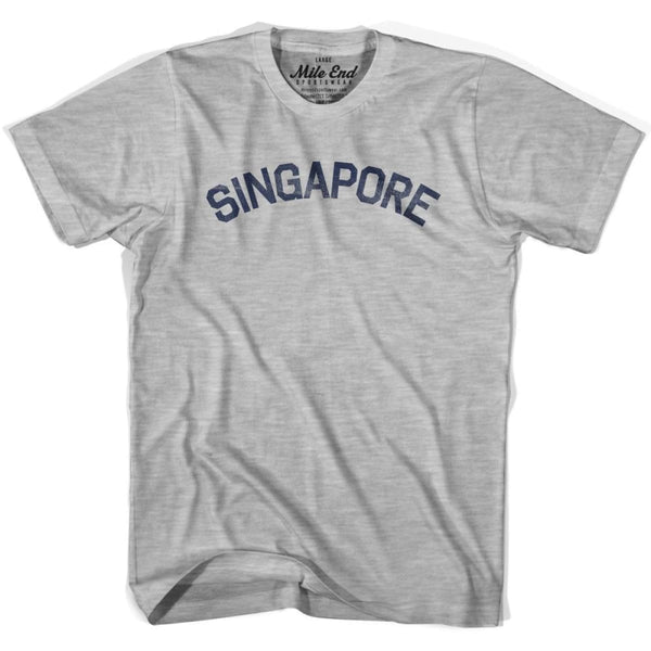 Singapore City Vintage T-shirt - Grey Heather / Youth X-Small - Mile End City