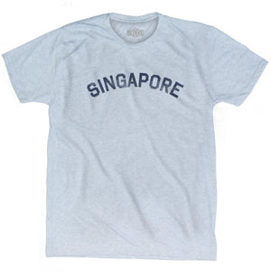 Singapore Vintage City Adult Tri-Blend T-shirt - Athletic White / Adult Small - Asian Vintage Country