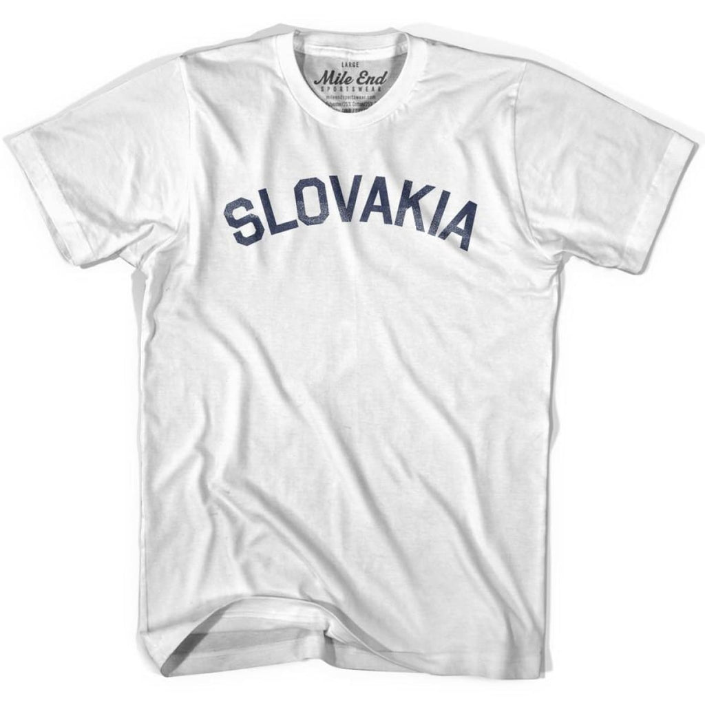 Slovakia City Vintage T-shirt - White / Youth X-Small - Mile End City