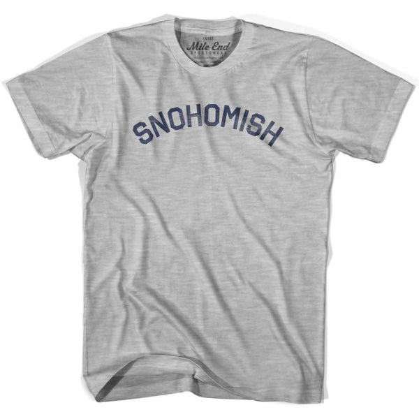 Snohomis City Vintage T-shirt - Grey Heather / Youth X-Small - Mile End City