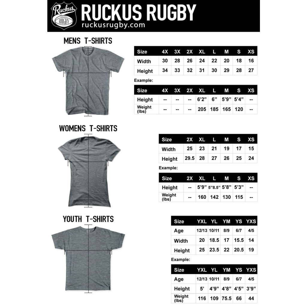South Africa Ruckus Rugby T-shirt - Rugby T-shirt