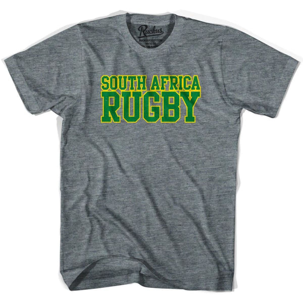 South Africa Rugby Nations T-shirt - Athletic Grey / Adult Small - Rugby T-shirt
