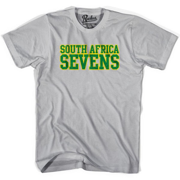 South Africa Seven Rugby Nations T-shirt - Cool Grey / Youth Small - Rugby T-shirt