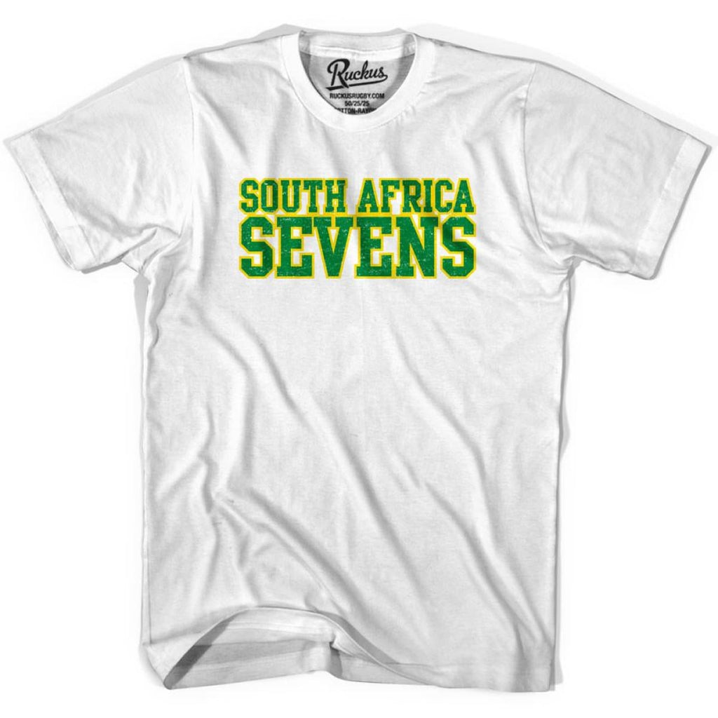 South Africa Seven Rugby Nations T-shirt - Cool Grey / Youth X-Small - Rugby T-shirt