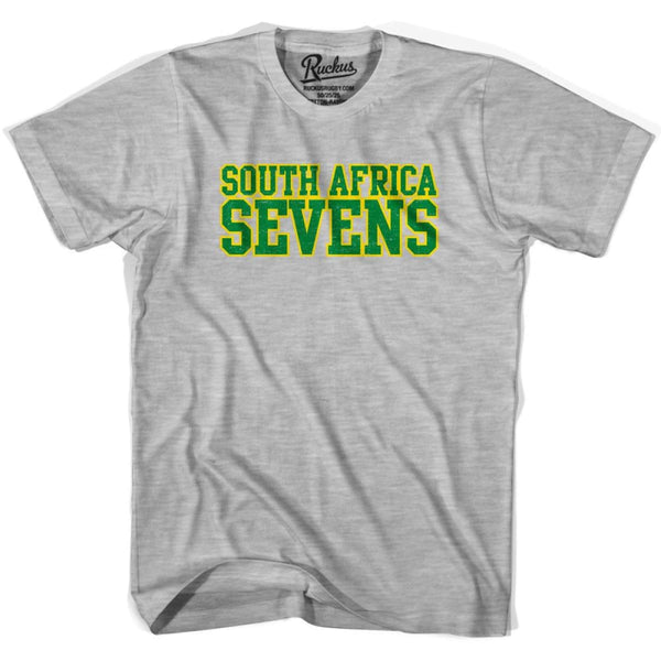 South Africa Seven Rugby Nations T-shirt - Heather Grey / Youth X-Small - Rugby T-shirt