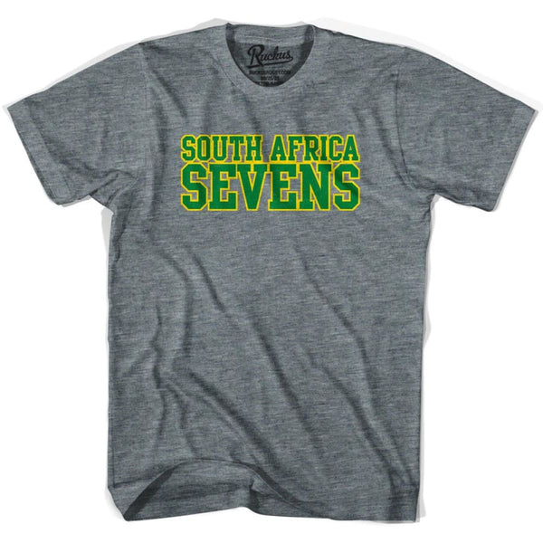 South Africa Sevens Rugby T-shirt - Athletic Grey / Adult Small - Rugby T-shirt