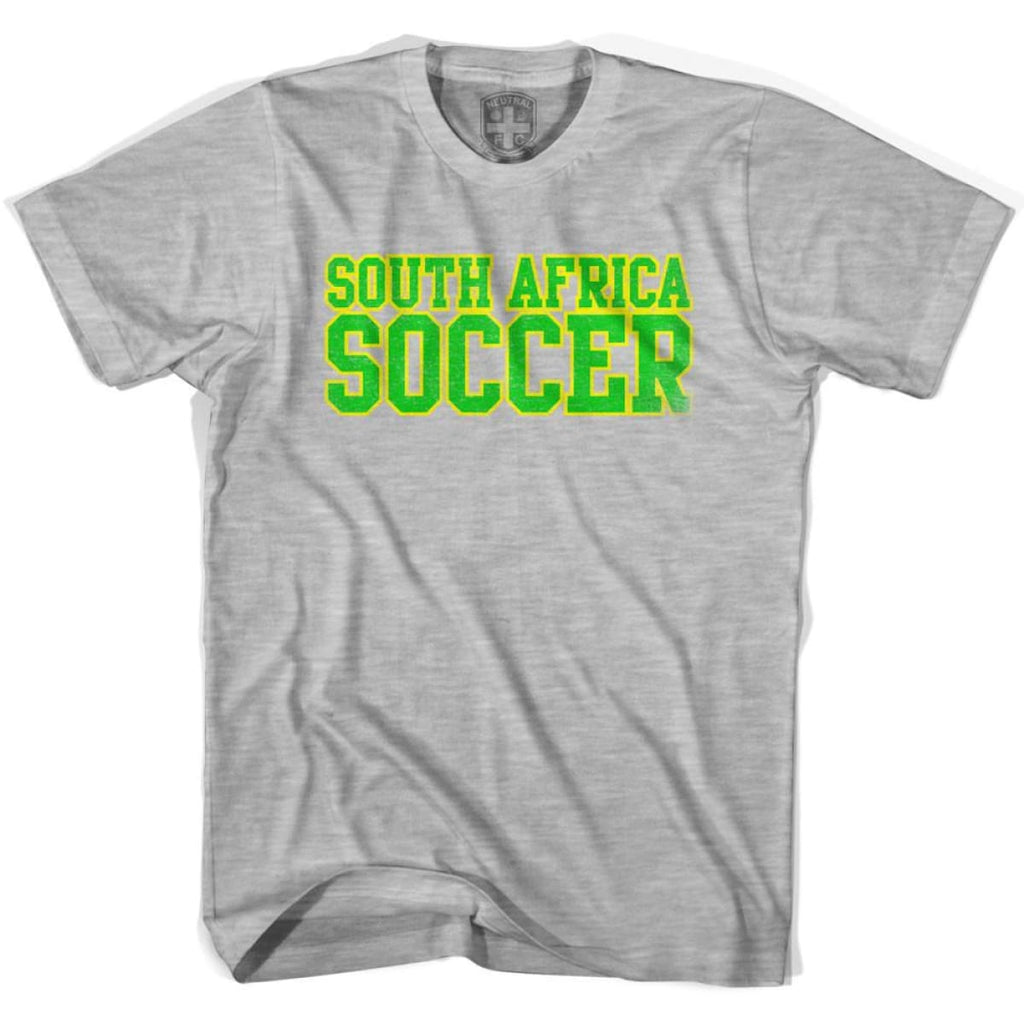 South Africa Soccer Nations World Cup T-shirt - Grey Heather / Youth X-Small - Ultras Soccer T-shirts