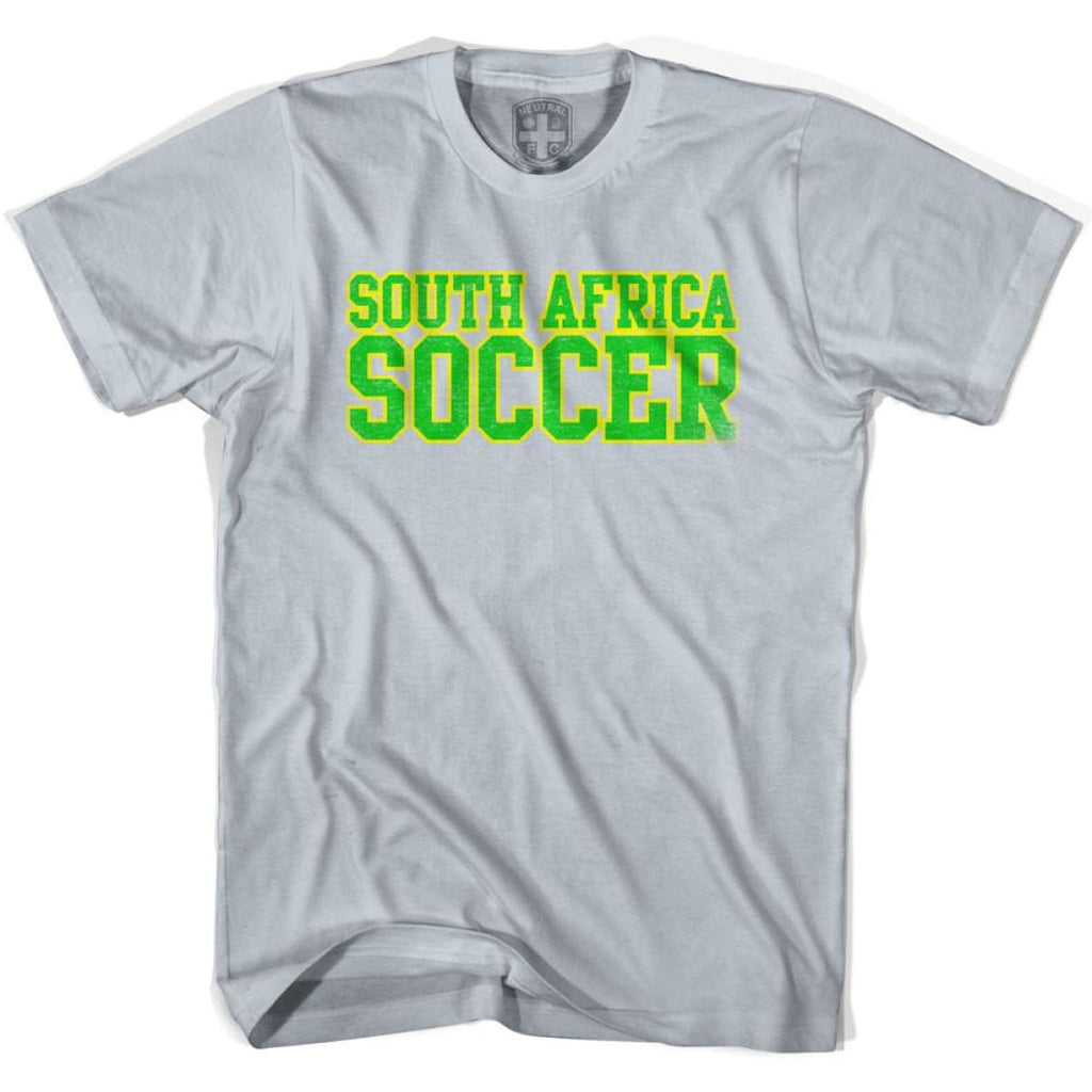South Africa Soccer Nations World Cup T-shirt - Silver / Youth X-Small - Ultras Soccer T-shirts