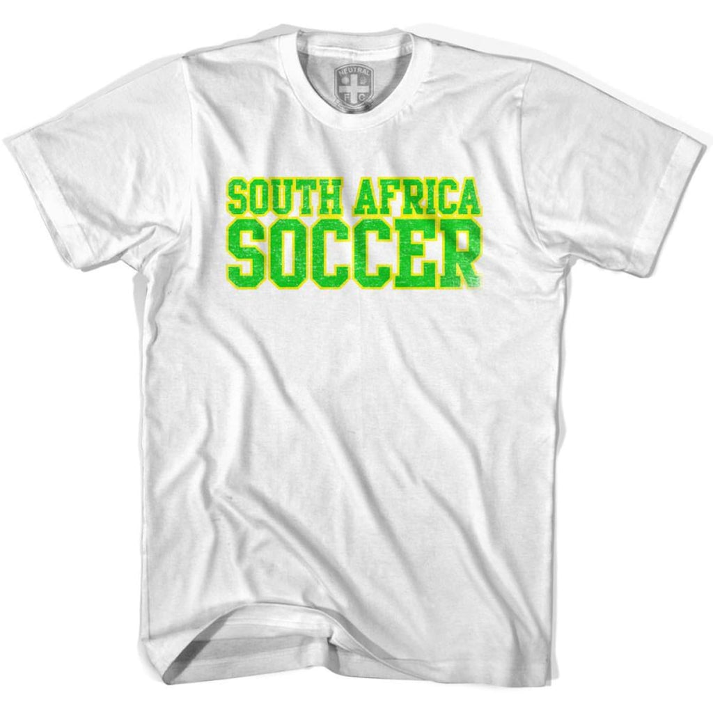 South Africa Soccer Nations World Cup T-shirt - White / Youth X-Small - Ultras Soccer T-shirts