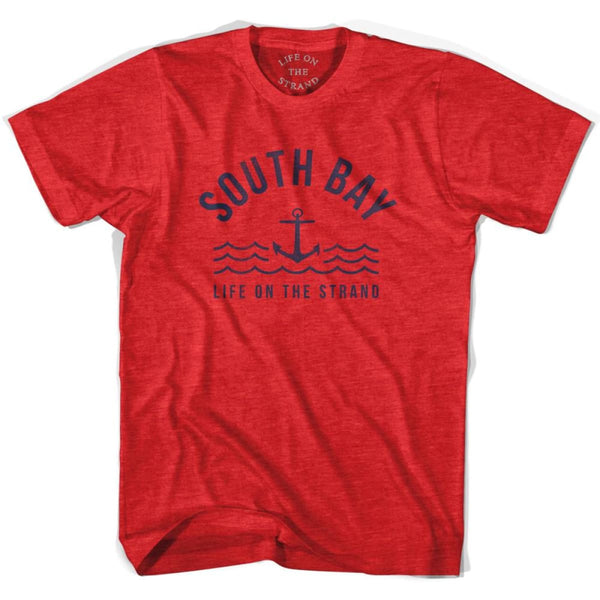 South Anchor Life on the Strand T-shirt - Heather Red / Adult Small - Life on the Strand Anchor